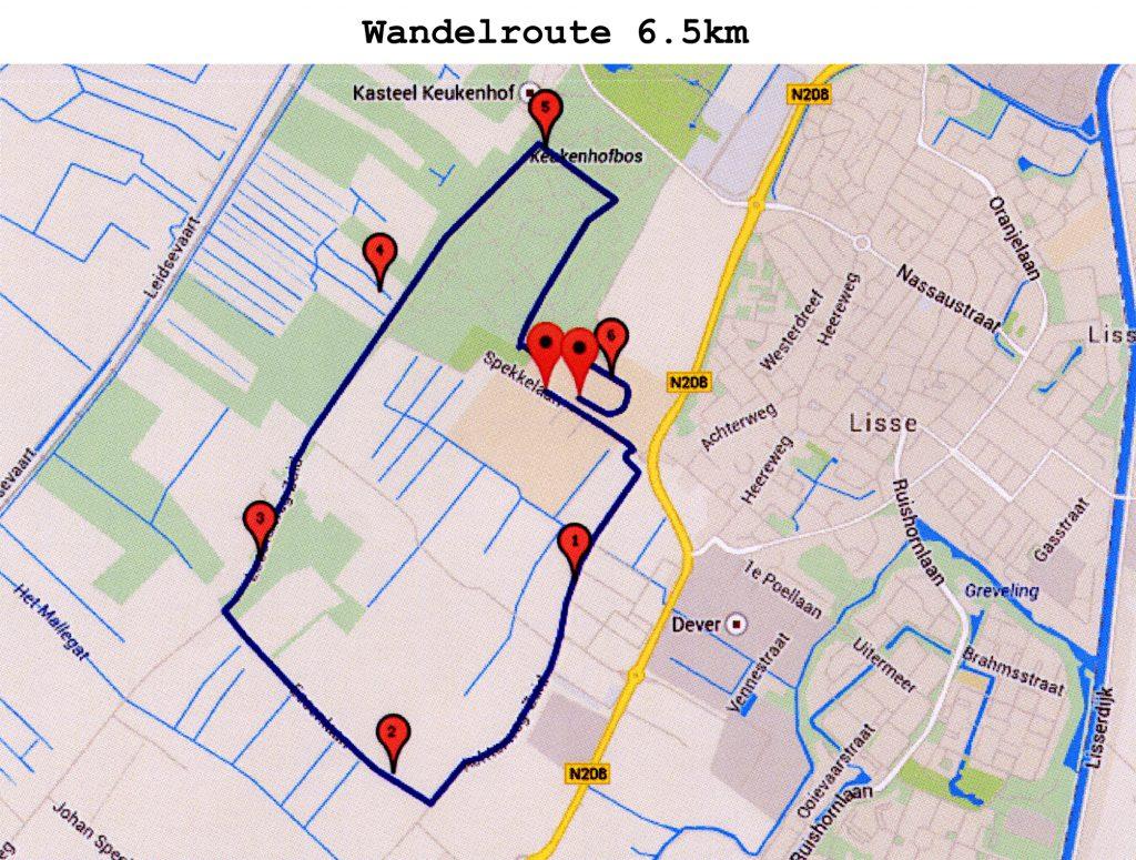 Wandelroute 6.5 km